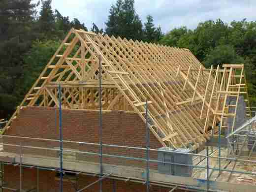 Tonbridge Carpenters. Cut and pitched roof